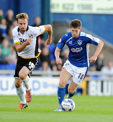 KEY PLAYER . . . Danny Philliskirk displays the skills against Port Vale which impressed his manager, Lee Johnson.