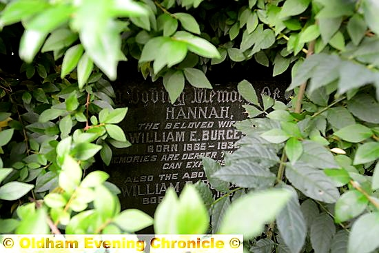 AN overgrown grave at Greenacres Cemetery.