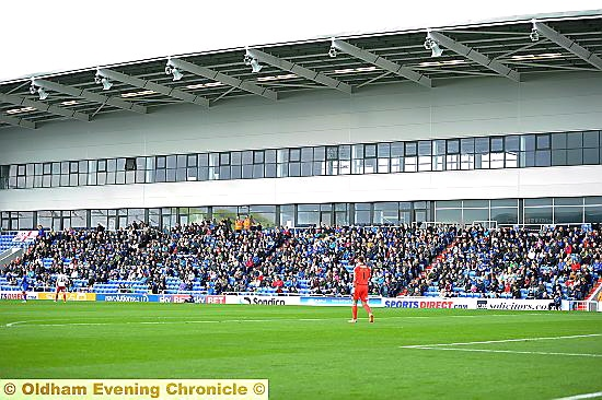 NORTH STAND: capacity rises for this Saturday's game