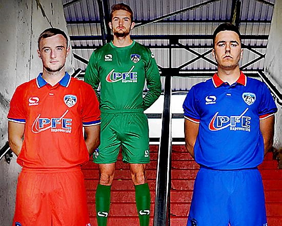 THEN and now: (l-r) Carl Winchester, Joel Coleman and Rhys Turner in the new strip.