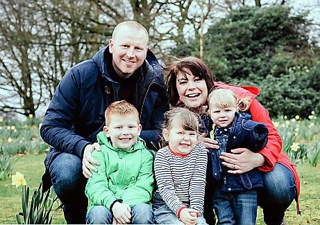 The family that blogs together... Dave and Colette Burgess and children Ben (5), Chloe (3) and Amy (19 months).