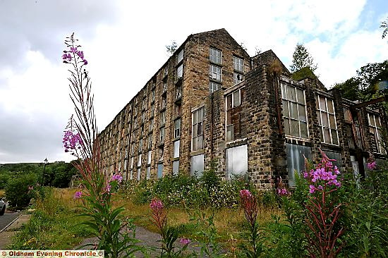 The derelict Bailey Mill, which closed in 1996