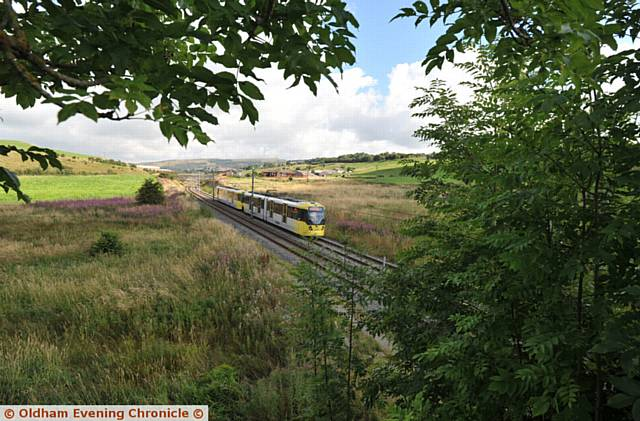 Metrolink tram at Beal Valley