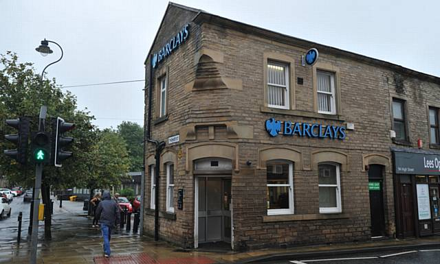 Barclays Bank in Lees is to close..