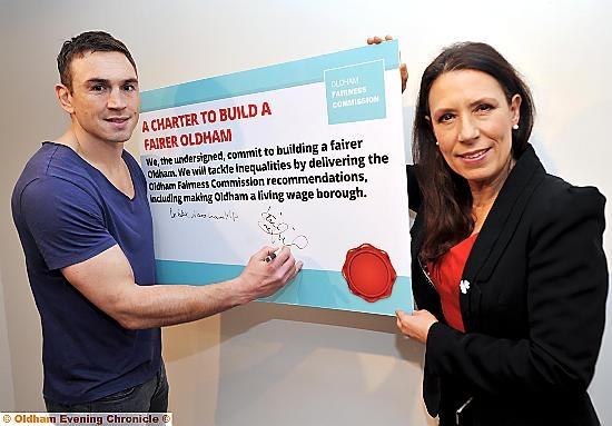 Kevin Sinfield and Debbie Abrahams