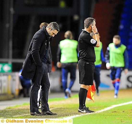 PLENTY TO PONDER . . . manager David Dunn will set his sights on strengthening Athletic's squad in the January transfer window.