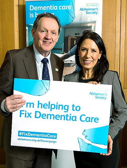 ACTOR Kevin Whately and Oldham MP Debbie Abrahama are backing the Alzheimer's Society Fix Dementia Care campaign