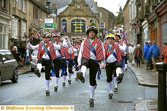 SPRING AWAKENING: Saddleworth Morris Men will be out and about this weekend for the first time this year