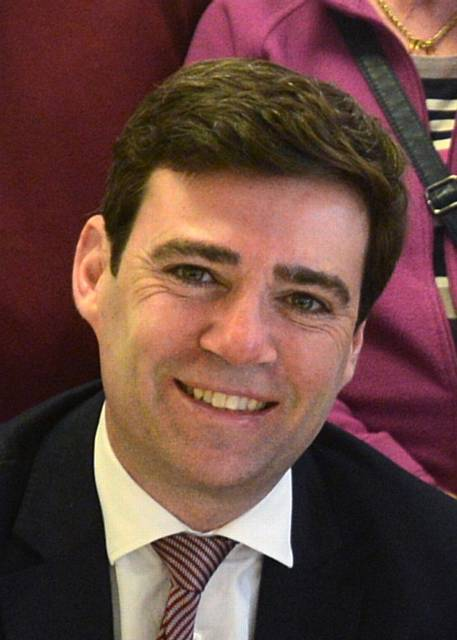 HAT IN the ring... Shadow Home Secretary Andy Burnham wants to be Mayor of Greater Manchester