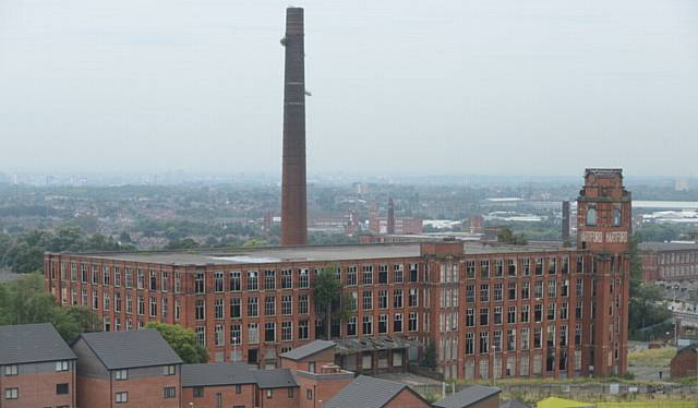 Views of Oldham from Hartford Works, Werneth. Pic shows Hartford Mill..