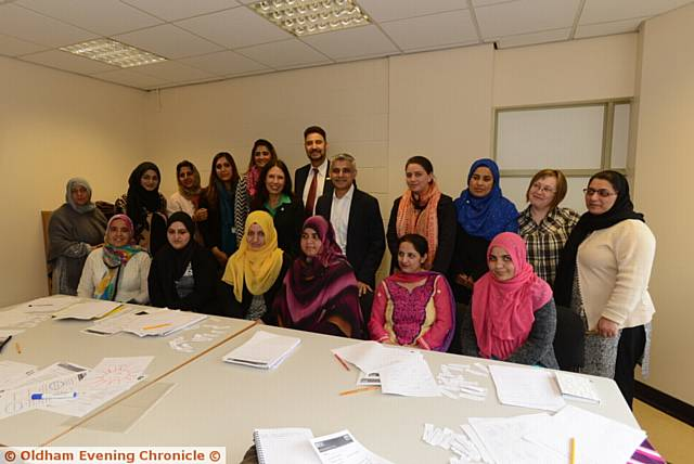 The Mayor of London Sadiq Khan visits the Fatima Women's Association at the Pakistani Community Centre.
