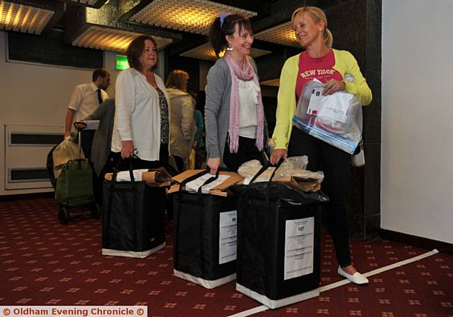 THE ballot boxes arrive at the QE Hall for the Oldham count
