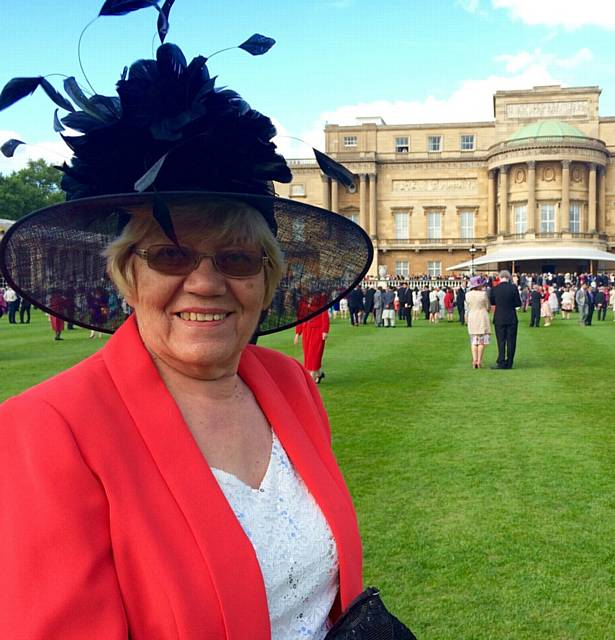 CHAIRWOMAN of the Chernobyl Children's Lifeline (Oldham Link) Theresa Novotny attending the Queen's garden party last month