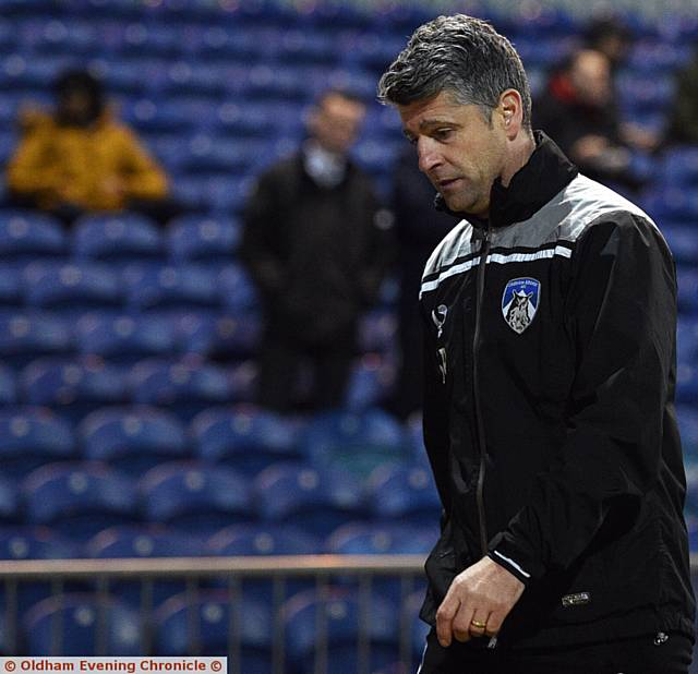 UNDER FIRE: Stephen Robinson says he won't quit as Athletic manager