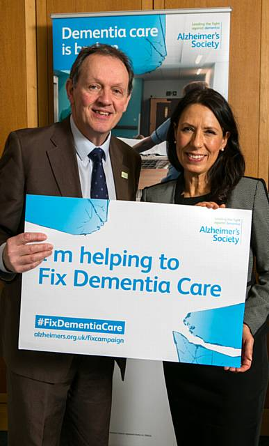 DEBBIE Abrahams, MP for Oldham East and Saddleworth with campaigner and actor Kevin Whatley