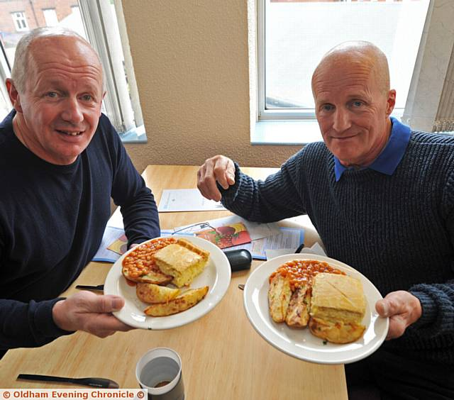 BROTHERS Stephen and John Curnow put their taste buds to the test