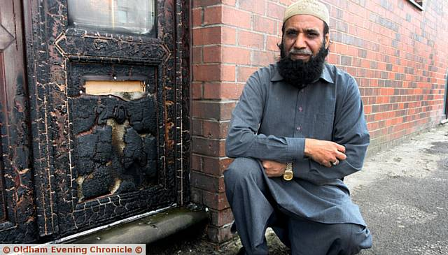 IMAM, Mohammad Siddiq outside the mosque
