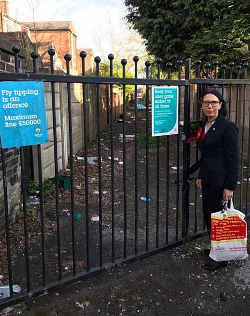 TACKLING fly-tipping . . . Debbie Abrahams