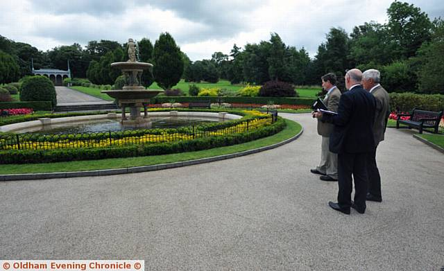Britain in Bloom judging in and around Oldham. Pic shows the judges in Alexandra Park.