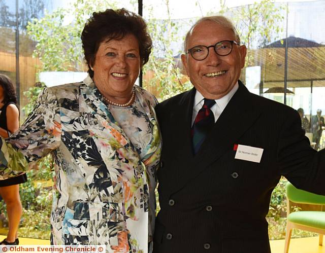 SIR Norman Stoller and his wife Shelia at the opening of Maggie's