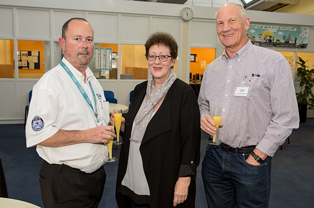 Pictured is Kath Soliman, centre, at Oldham Training Centre during a Professional Oldham network event in 2017 with, left, OTC clients Tony Smith of EDM, Newton Heath, Manchester and, right, David Farrington, of E Farrington & Co, Hyde