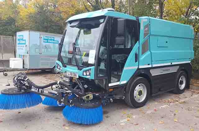 Oldham Council has recently added two 10.5 tonne Johnston Sweepers to its�fleet of vehicles