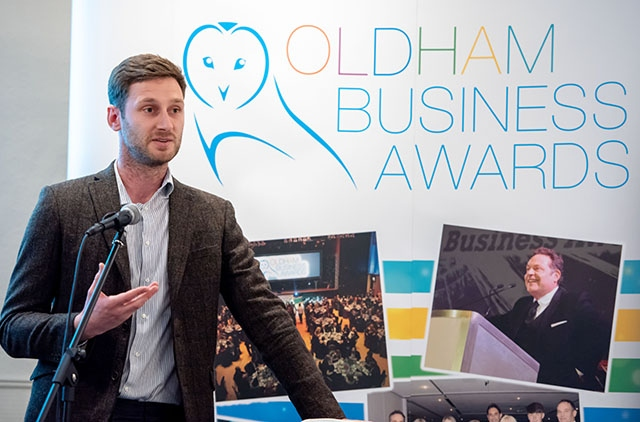 Oldham Council Leader Sean Fielding pictured at last night's Oldham Business Awards launch event.