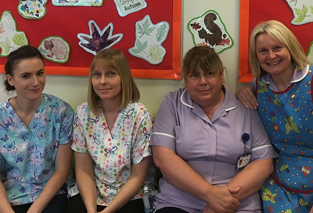 The play team at the Royal Oldham hospital