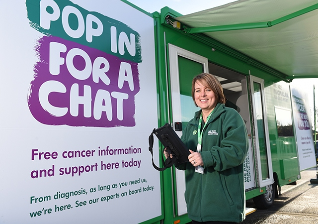 Macmillan Information and Support Specialist Jo Trask