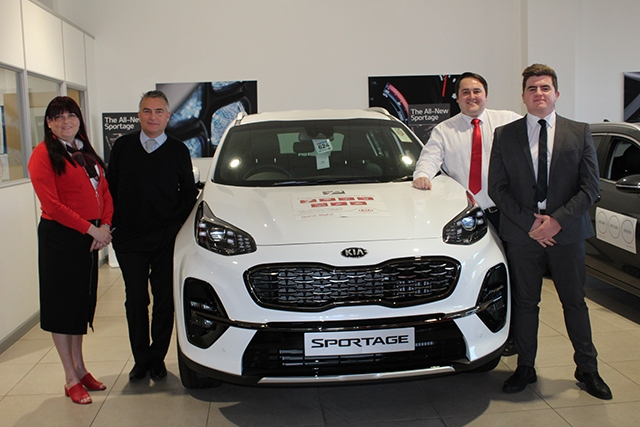 The team at OMC Kia Oldham with the new Sportage