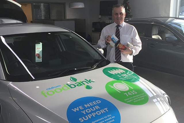 Pictured is David Cunningham, a Sales Executive at Oldham Mazda