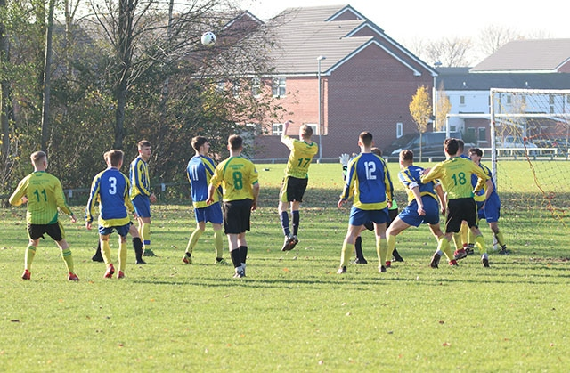 Action from Chaddy Park under-19s Eagles' clash with Waterloo