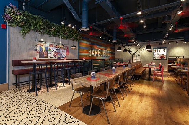 The new Barburrito fit-out at Manchester Arndale