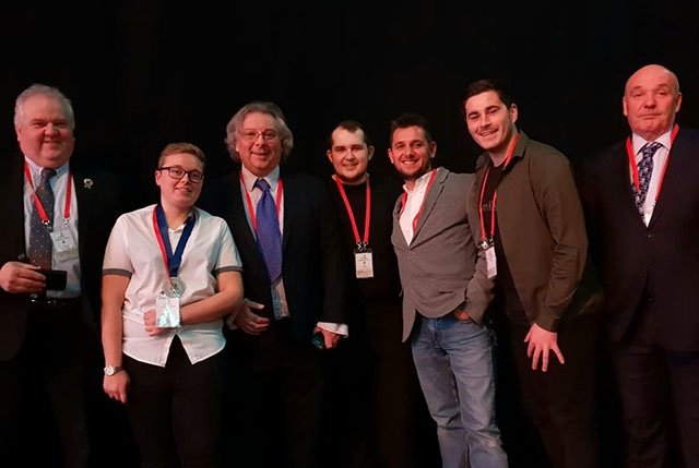 Kerris Boulton is pictured (second from left) after the WorldSkills UK LIVE award ceremony