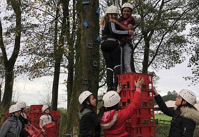 Getting out of their comfort zone proved the perfect way for Hathershaw College pupils to make new friends.