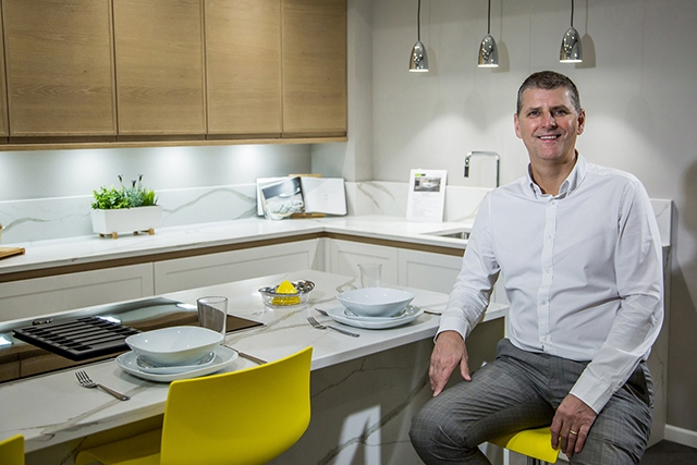Mike Jackson, managing director of Fineline Interiors, at the new Warrington showroom.