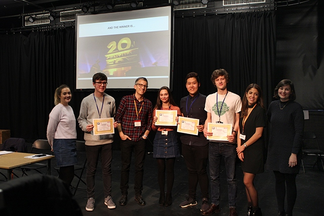 Media students at the Manchester College enjoyed a Hollywood experience from film giant 20th Century Fox. The students included Oldham's Oliver Keane (third from right).