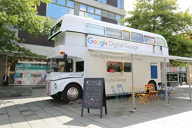 The Google Digital Garage bus will head to Mossley next month