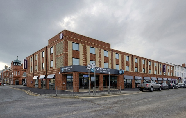 The Premier Inn building at Rhyl