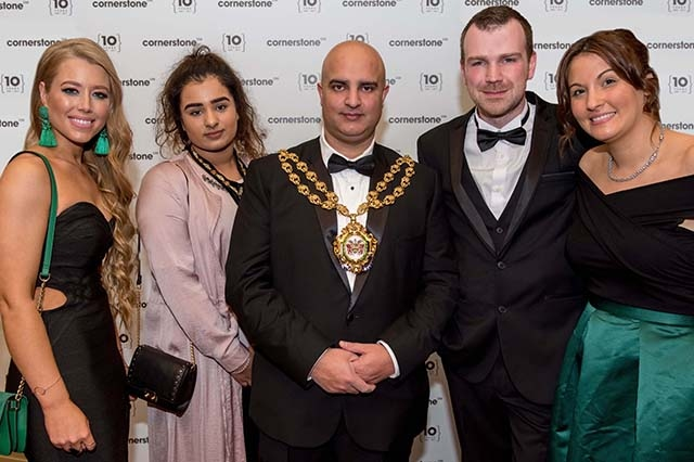 Cornerstone Design and Marketing 10th anniversary celebrations at The White Hart, Lydgate. 