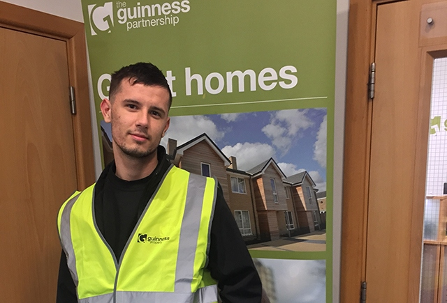 Reece Birrell, an apprentice joiner from Oldham, has joined Guinness Property