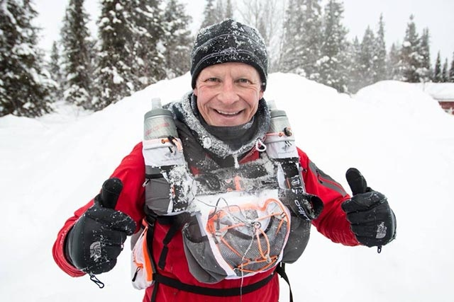 Steve Hill MBE - pictured during his recent Arctic challenge - has been invited to St James's Palace