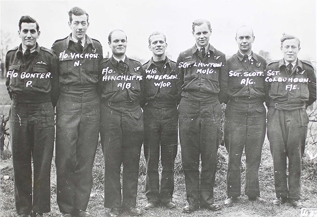Sergeant Douglas Colquhoun, from Oldham, is pictured (far right)