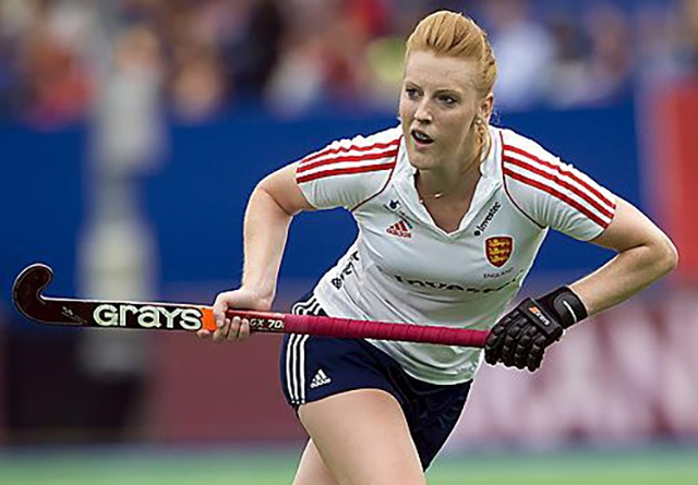 Nicola White in action for Team England