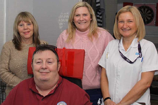 Billy Duckworth (front) and his care team � Back (left to right): Christine McConkie, Carer; Tracey Edge, Carer and Jane Munro, Podiatrist.