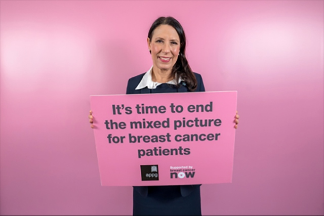 MP Debbie Abrahams is calling for an end to the 'stark inequalities' in breast cancer diagnosis and care
