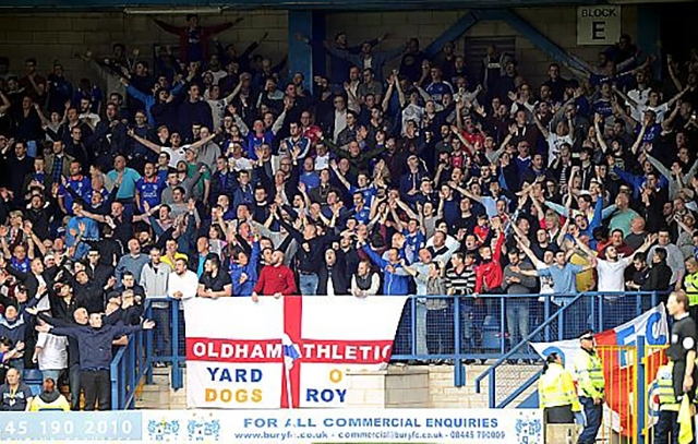 The Athletic fans are set to repeat last season's heroics at Gigg Lane this coming Saturday