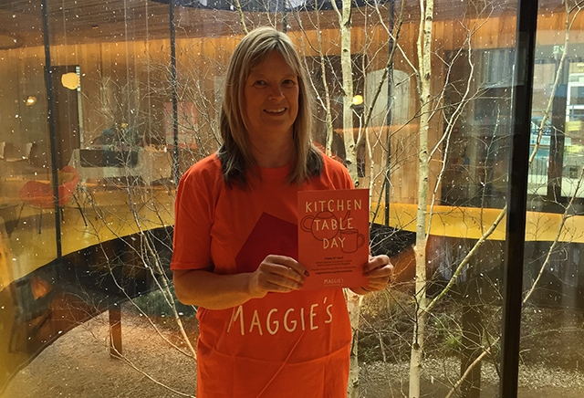 Maggie's Kitchen Table Day supporter Diane Bibby