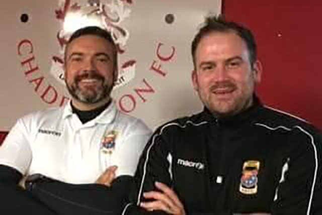 Chadderton manager David Fish (left)