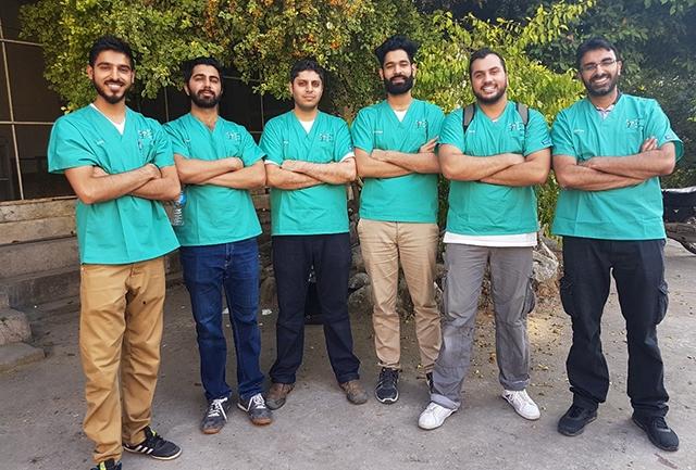 The Dental Aid Netowrk team were (left to right): Dr Zohaib Khan, Dr Amer Mobarik, Dr Imran Shafi, Dr Abdul-Wahab, Dr Imran Asghar and Dr Khurum Shafiq.